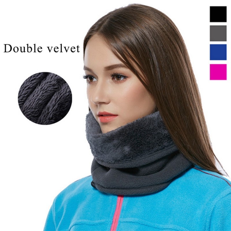 Constructive Outdoor Fleece Bib Double Warm Collar Men Women 3 In 1 Ways Multi-function Wig Scarf Sports Windproof Cap Hiking Climbing Must
