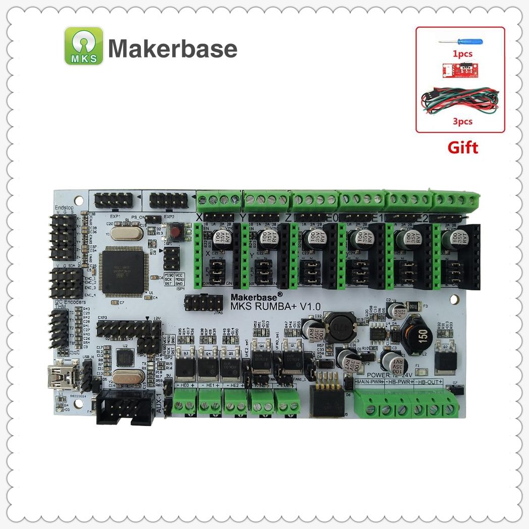 MKS Rumba Plus plaque de commande Rumba-conseil intégré Rumbaplus carte mère mega 2560 R3 processeur compatible MKS TFT affichage