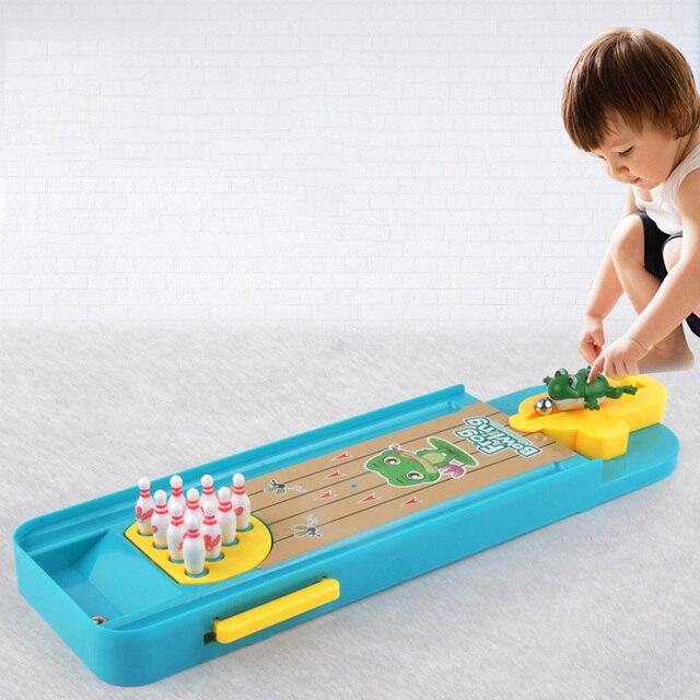 Игрушка для маленьких детей, мини настольный Боулинг игра игрушечный комплект, забавная домашняя игрушка для родителей и ребенка, Интерактивная настольная игра, боулинг для детского развития
