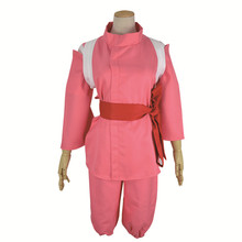 New Anime Spirited Away Ogino Chihiro Cosplay Costume Pink Uniform Outfit Halloween Costumes for Women/Men S-XL