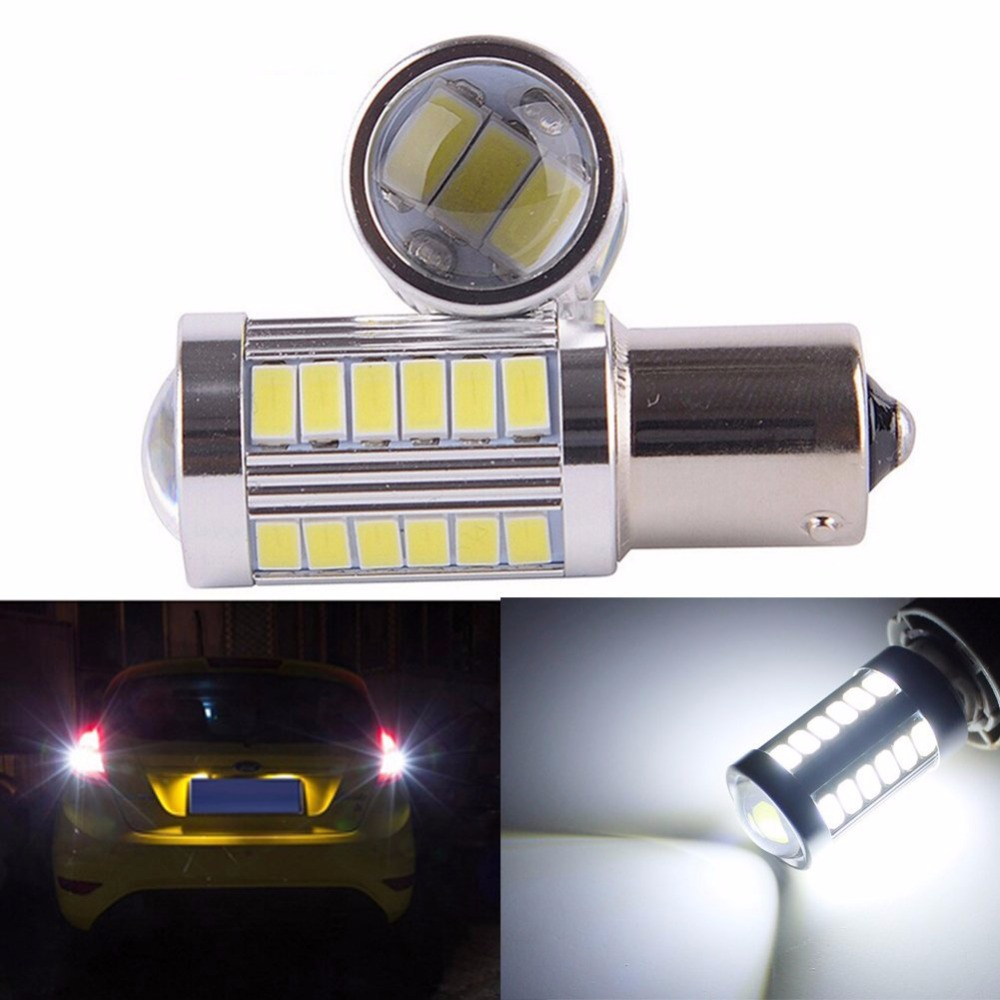 2pcs 33smd 5630 5730 led 1156 BA15S P21W Car Tail Bulb Brake Lights auto Reverse Lamp Daytime Running Light red white yellow 1x car led t20 7443 w21 5w 33 led 5630 5730 smd auto brake lights fog lamp reverse light car daytime running lights red white