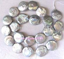 Perles en vrac avec bouton d'eau douce, 15.5 '', 11-12mm, livraison gratuite, qualité photo à la mode