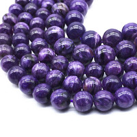 19 cm/String Nature Russia Charoite 10 mm Round Beads For Jewelry Making 100% Nature Color Not Synthetic Not Dyed Color