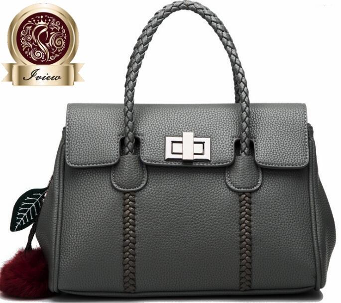 2017 Ladies' genuine leather handbag women messenger bags women leather handbags office handbag big size