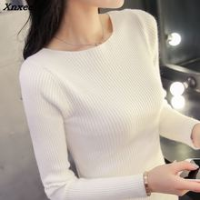 Slim short sleeved sweater collar female thread tight shirt and new sweater sleeve head Xnxee цены