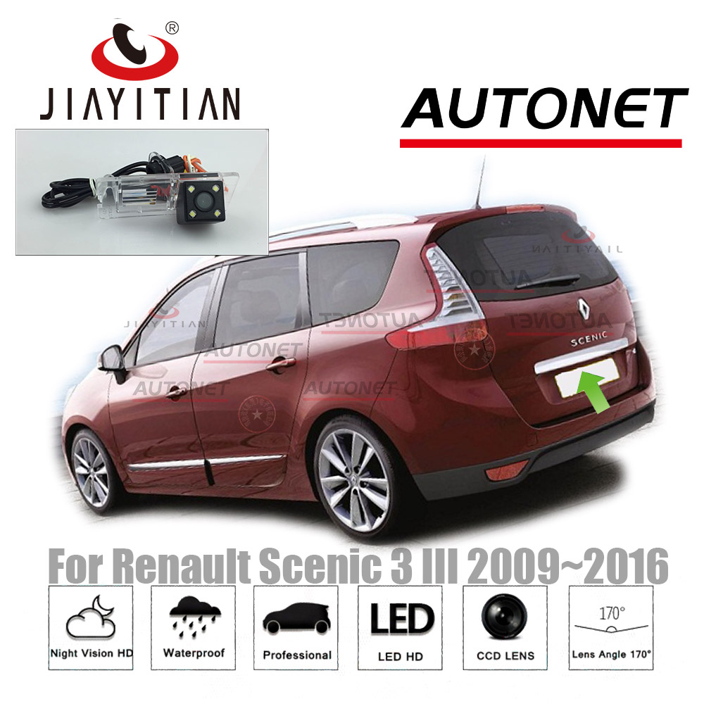 JIAYITIAN Rearview Camera For Renault Scenic 3 III 2009~2016/Parking camera backup Camera/Night Vision/CCD/License Plate camera 860 576 pixels back up camera for renault megane 3 iii 2008 2016 rearview parking 580 tv lines dynamic guidance tragectory