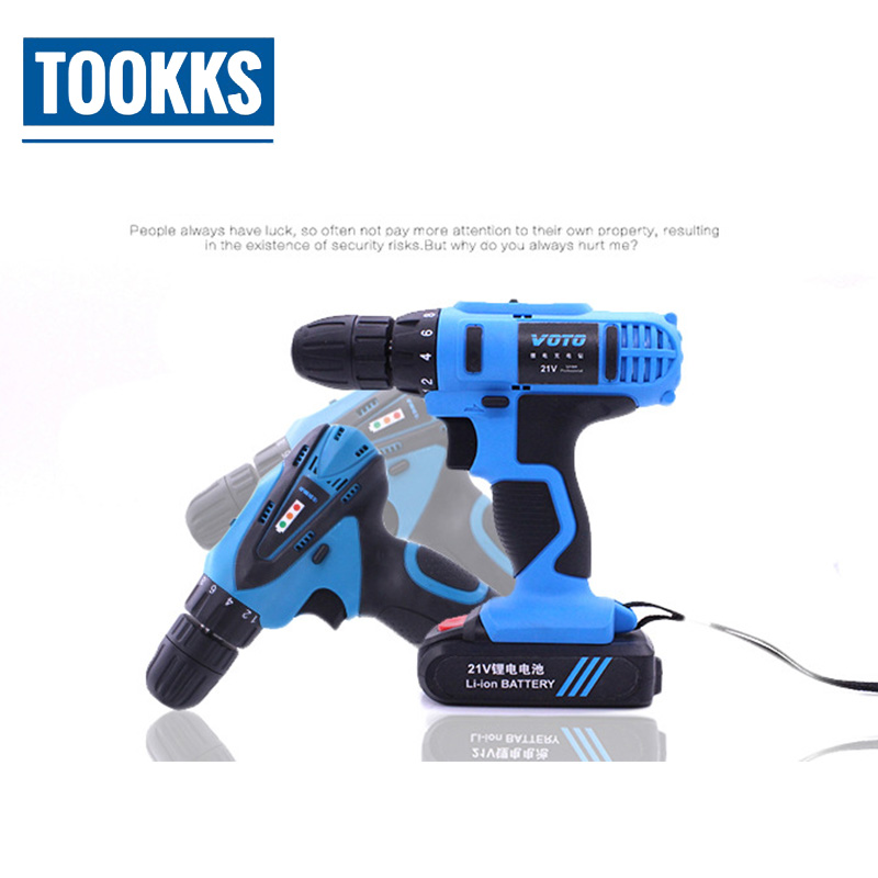 VOTO 21V lithium-ion Battery Cordless Electric Drill Multifunctional electric drilling Batteries Screwdriver Handheld Drill цены