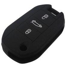SUNCOOL Горячее надувательство Силикона ключа автомобиля чехол для Citroen Elysee 3 Кнопки Складные ключи от машины с логотипом