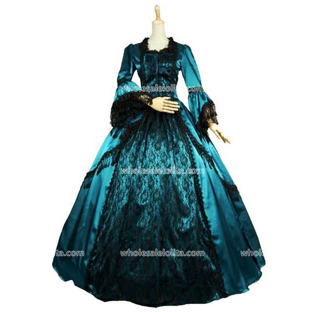 Top Sale Gothic Marie Antoinette Penny Dreadful Renaissance Vampire Dress  Gown Theatre Costumes 7fb29fc41407