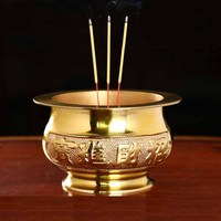 Taiwan pure copper incense burner incense Buddha Buddhist supplies Decoration