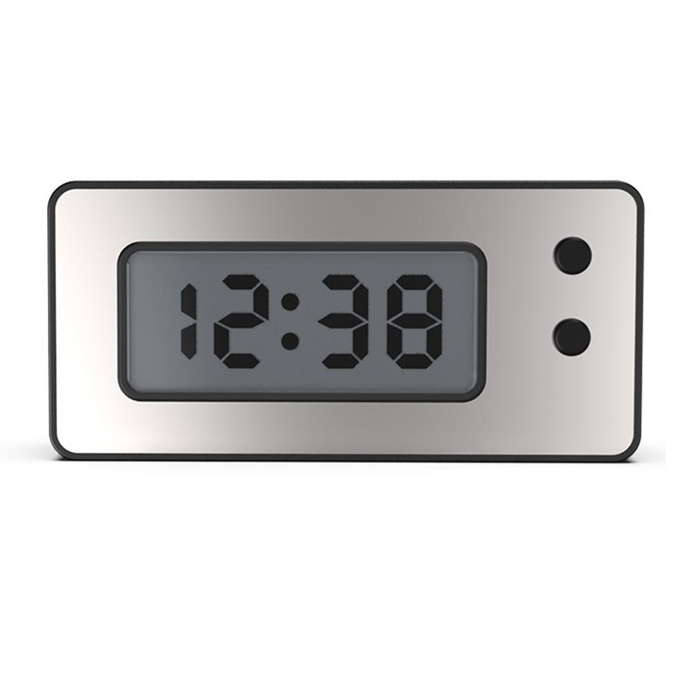 Ultra-thin LCD Digital Display Clock Vehicle Car Dashboard Waterproof Clock With Calendar Cool Car Moto Accessories