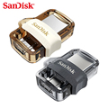 SanDisk OTG USB 3.0 Dual Mini Pen Drive 128GB 64GB USB Flash Drive 32GB Pendrive Memory U Disk For PC And Android Phone Tablet