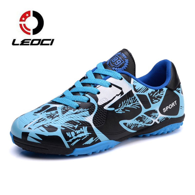 2018 TF Football Shoes Mens Kids Training Soccer Boots Indoor Futsal Shoes Non-slip Soccer Cleats Zapatillas Futbol Sala Hombre