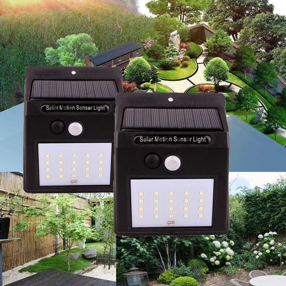 Motion Pir Sensor Solar Light 20leds Solar Panel Light Led