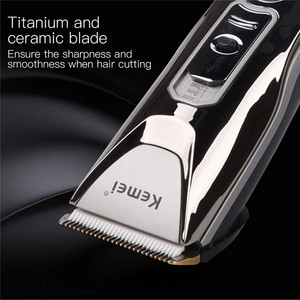 Image 3 - Kemei 0.8 2.0MM Adjustable Electric Hair Clipper LED Display Rechargeable Hair Trimmer With Comb Haircut Machine Hairclipper 489