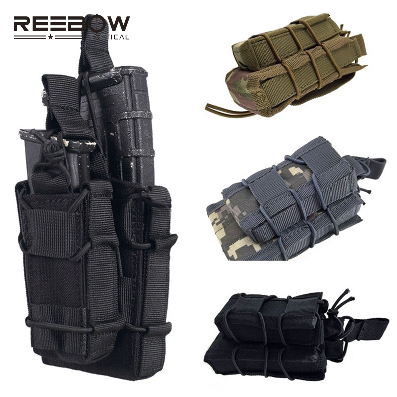 Double Decker Magazine Pouch Airsoft Military Mag Bag MOLLE Camouflage Bag Memburu Tactical Double Magazine Mag