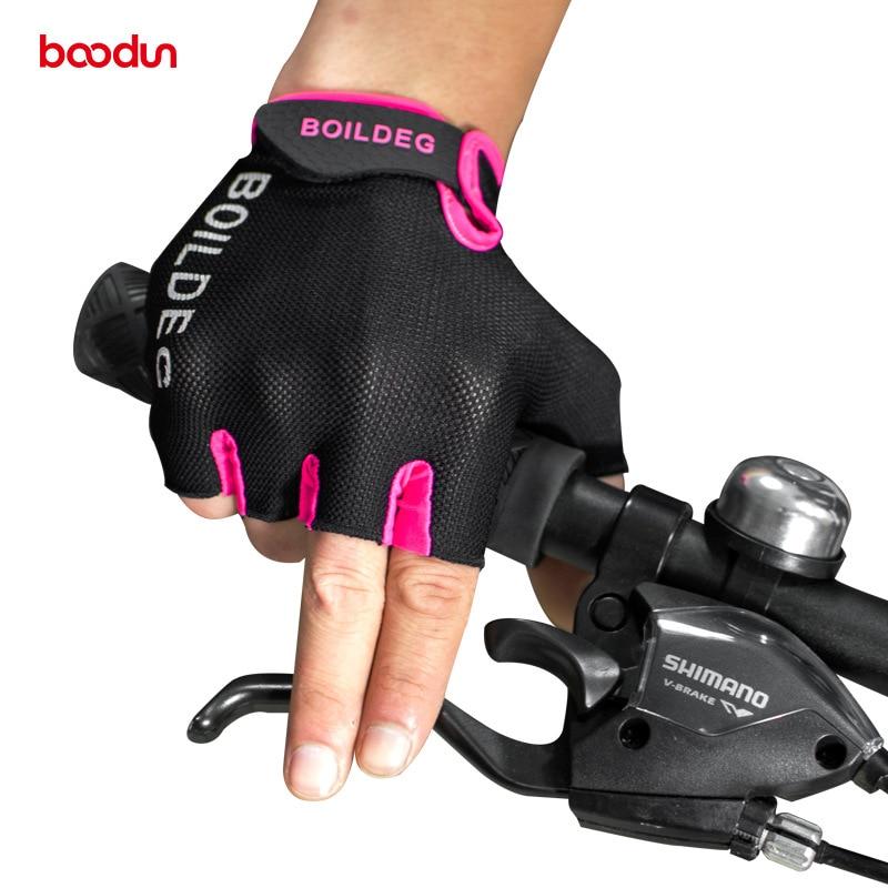 Boodun Summer Cykelhandsker Half Finger Crossfit Gym Fitness Handsker Sport Mtb Mountain Cykelcykel Handsker til mænd og kvinder