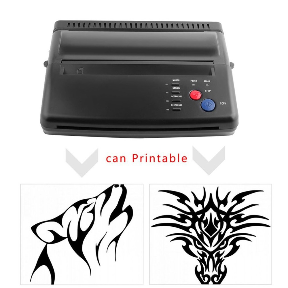 цена на Hot Professional Tattoo Tool Drawing Design Tattoo Thermal Stencil Maker Copier Tattoo Transfer Machine Printer Transfer Paper