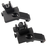 Tactical BUIS Backup Front Rear Flip Up 45 Degree Rapid Transition Iron Sight Hunting Gun Accessories