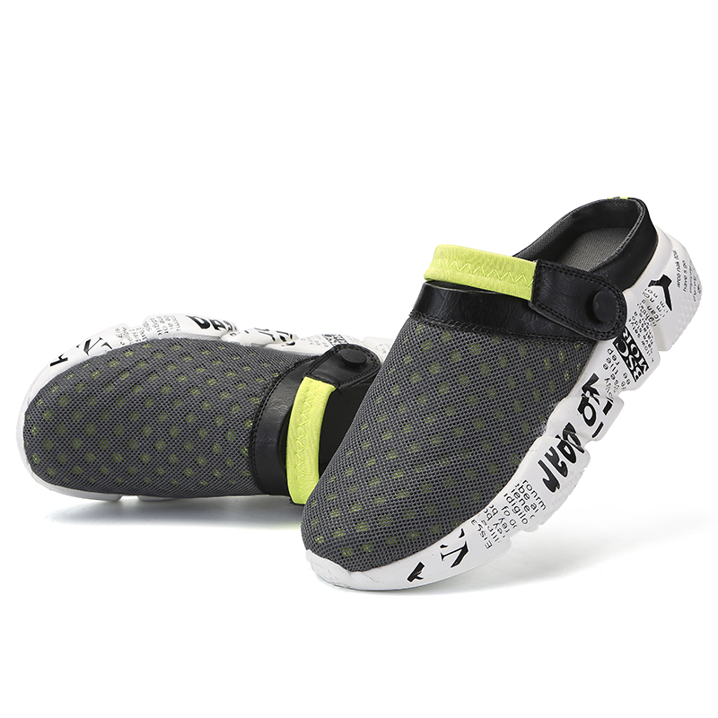 931600b925f6 Men Summer Sandals Breathable Mesh Sandal Comfortable Summer Beach Mens  Shoes Water Man Slippers Fashion Slides Shoes Plus Size-in Men s Sandals  from Shoes ...