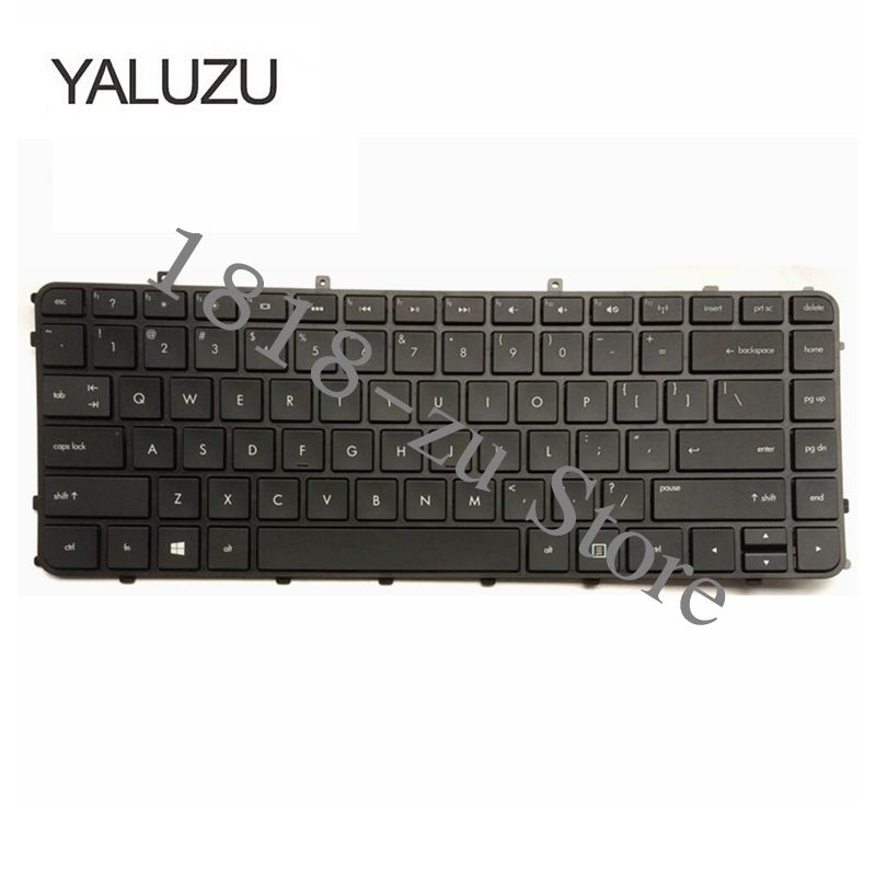 YULUZU For HP US English Black Frame Keyboard For ENVY Sleekbook 6-1000 4-1000 6-1020sv 6-1050ex 4-1208tu 4-1245tu