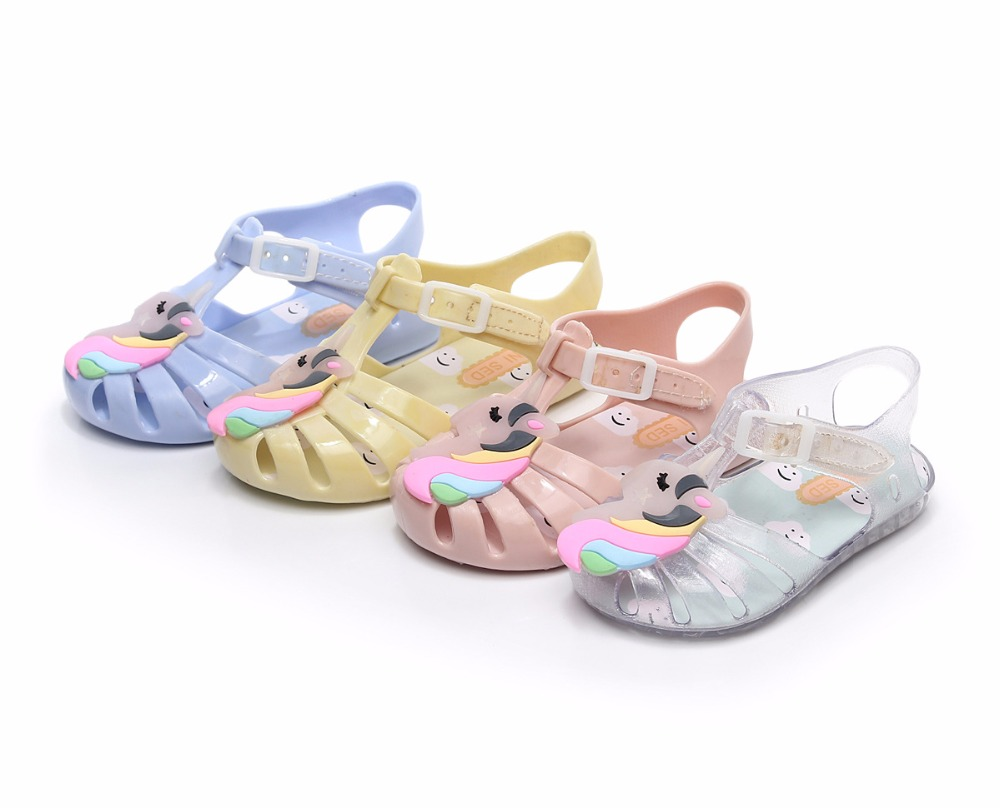 Mini Melissa Unicorn Girl Jelly Sandals Children Shoes Jelly Sandals Mini  Sed Sandals Breathable Girl Beach Sandals Baby Shoes-in Sandals from Mother    Kids ... 7c58e3531
