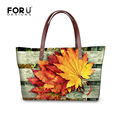 2016 Fashion Women Shopping Tote Beach Bag Maple Leaf Prints Casual Handbag Female Shoulder Bag Large Capacity Bolsas Femininas