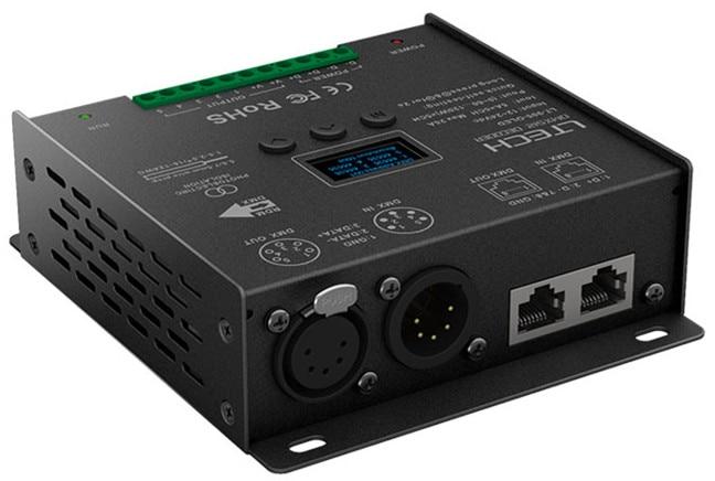 LT-905-OLED;5CH CV DMX Decoder;DC12-24V input;5A*5CH output led constant voltage dmx pwm decoder dimmer lt 820 5a 8 16 bits optional oled display 4channel 5a 4channel max 20a output