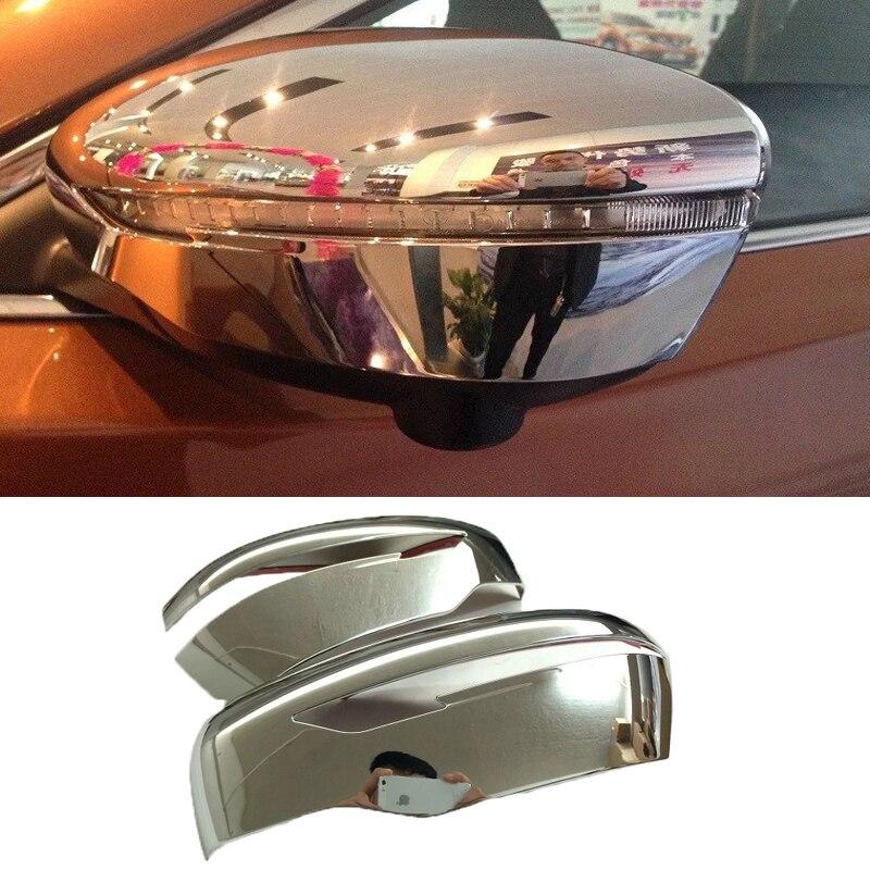 ABAIWAI Voiture Chrome 3D Autocollants Pour Nissan Qashqai J11 Arrière vue Latérale Miroir Protecteur Auto Partie Accessoires Couvre 2014 à 2016