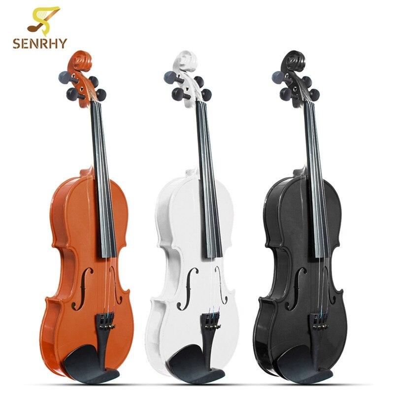 4/4 Violino Tiglio Acustica Naturale Faccia Bordo Violino Strumenti Musicali con Cassa In Lega di Alluminio Cordiera Colofonia Scatola della Gomma Piuma