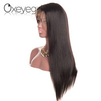 Oxeye Girl Brazilian Straight Hair Full Lace Human Hair Wigs With Baby Hair For Women Natural