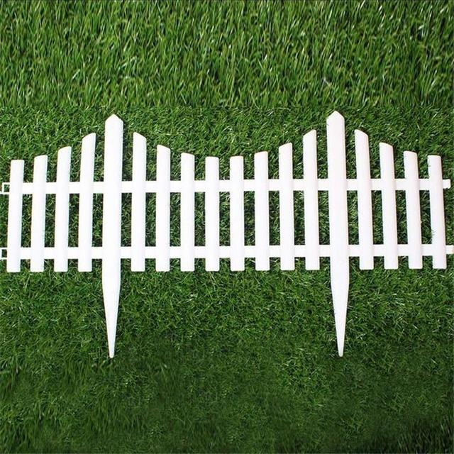 Wonderful 5 Unids Valla De Jardín De Plástico Blanco Fácil De Montar Estilo Europeo  Suelo Insertar Tipo Vallas De Plástico Para Jardín Countryyard Decoración