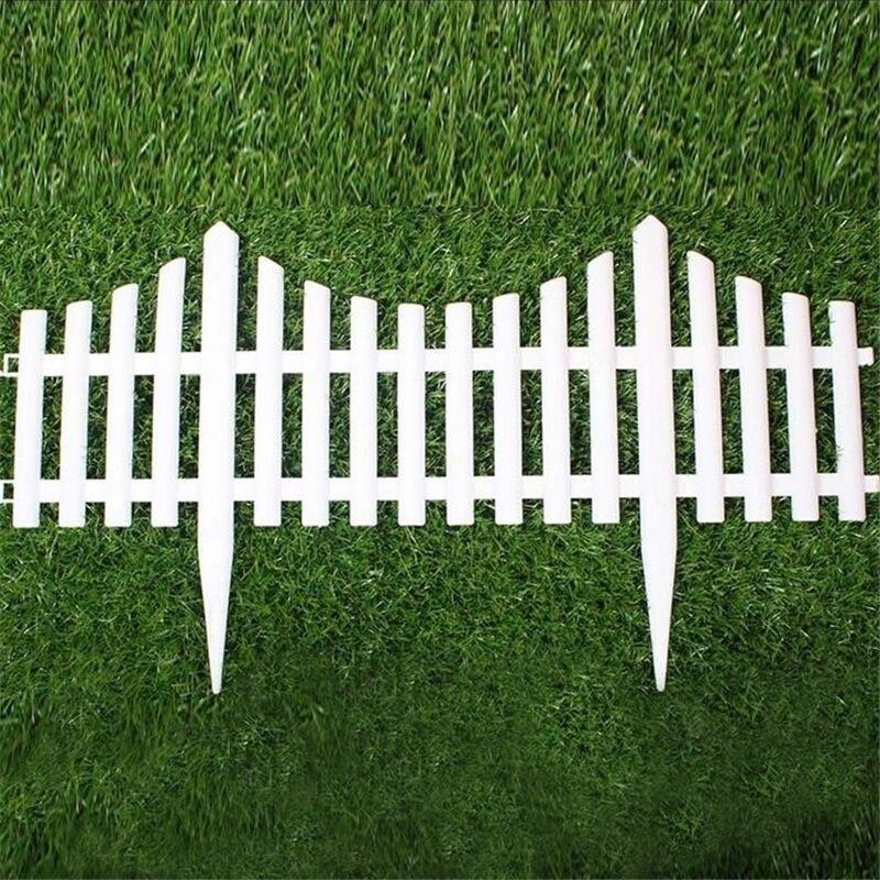 Achetez en gros pvc blanc cl ture en ligne des - Vallas de plastico para jardin ...