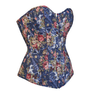 Image 4 - Sexy Bloemen Corset Kant Uitgebeend Taille Cincher Sliming Bustier Clubwear Plus Size S 2XL