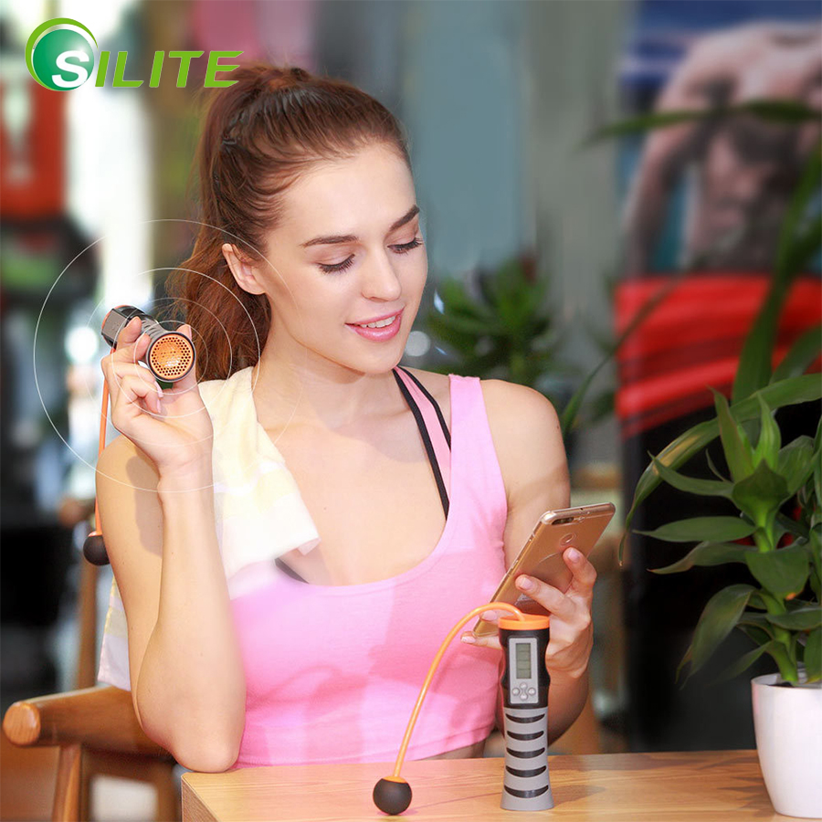 SILITE Smart Wireless Bluetooth Speaker Rope Skipping Student Adult Fitness Equipment Training