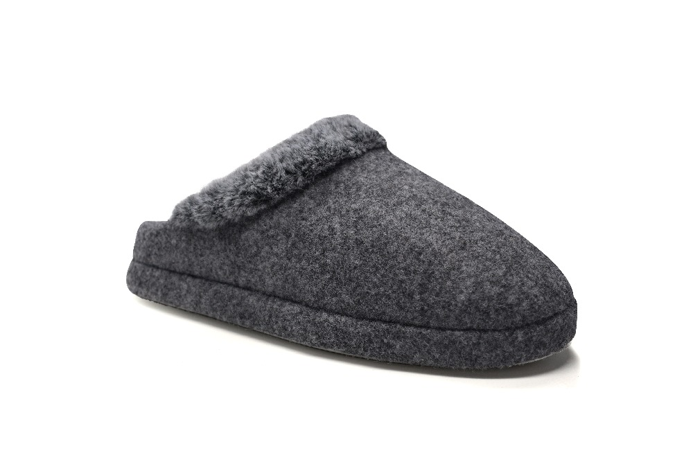 9affffb5d01 Detail Feedback Questions about Mens Fur Felt Slippers Comfort House  Slippers for Men on Aliexpress.com