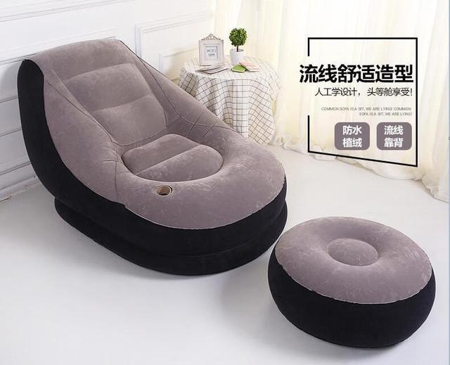 122 cm x 94 cm x 81 cm reunindo pvc dual-use inflável sofá preguiçoso cama apartamento pequeno dobrável sofá cochilo, APOIO PARA OS PÉS de ar do saco de feijão sofá