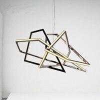 Post modern Designer Irregular Geometric Led Pendant Light For Living Room Dining Room Restaurant 80/120cm 1502