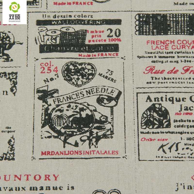 100% Print Schaar Katoen Linnen Stof Textiel Naaien Stoffen Voor Thuis Decoratie Doek Tafelkleed Gordijn 50x155 cm M23