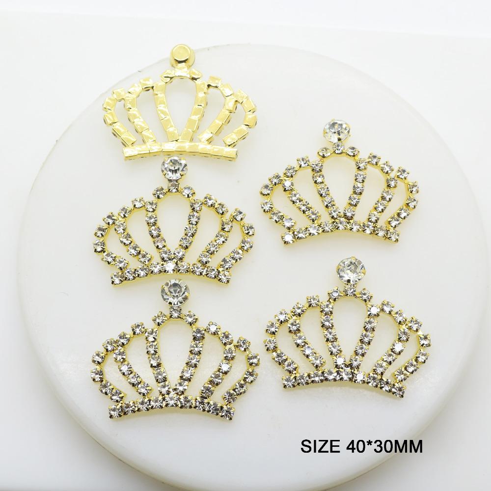 ec389d6d30 Hot New 5Pcs/Lot 40*30mm Flatback Gold Crown Buttons Diy Fashion handwork  Sewing Button Accessories