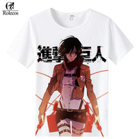 Rolecos Japanese Anime Attack On Titan Cosplay Costume Mikasa Ackerman Eren Jaeger Cosplay T Shirts Fashion