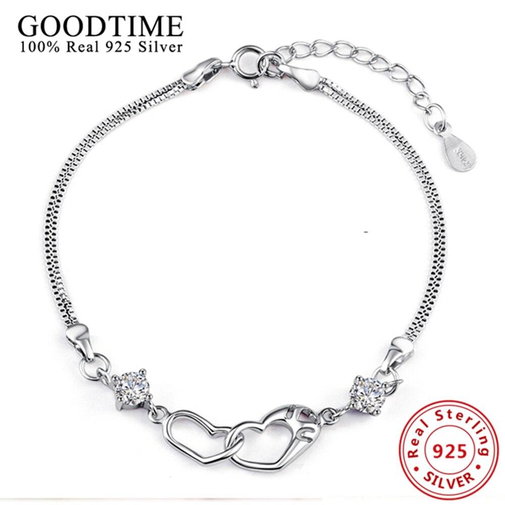 Solid 925 Sterling Silver Jewelry Bracele 925 Silver