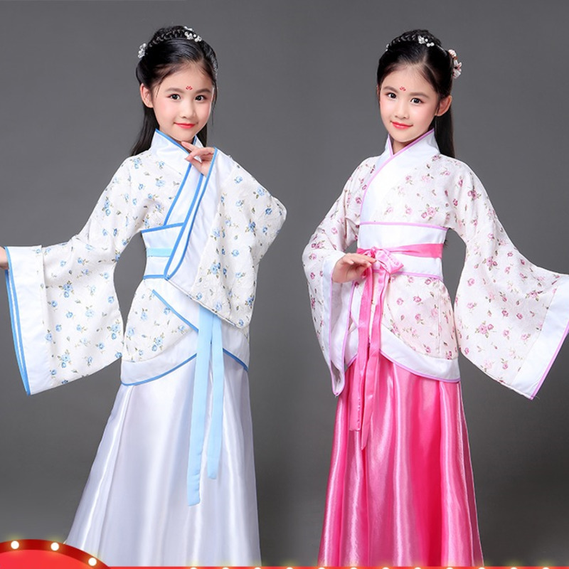 traditional chinese dance costumes for girls ming opera children Ancient Fairy han tang dynasty qing hanfu Dress Child kids kid