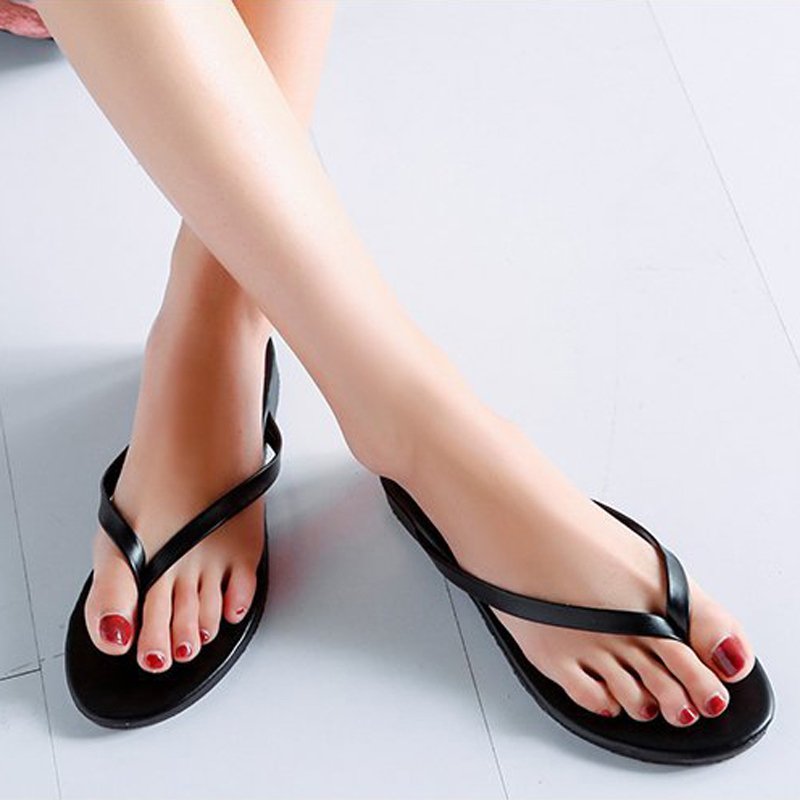 Women Flip Flops New 2018 Women Beach Slippers Summer Shoes Comfortable Flat slippers Size 35 - 40 kemekiss women slippers clip toe flat heel crystal shine women summer shoes fashion korean holidays footwear size 36 40