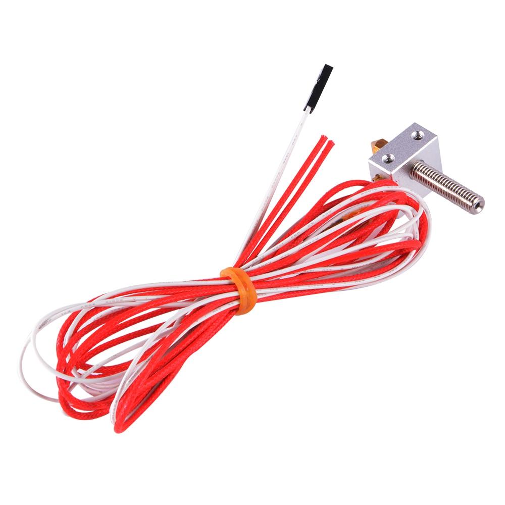12V 1 75mm 0 4mm MK8 Nozzle Filament Thermocouple Hot End for 3D Printer TE599