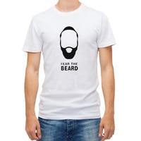 2017 Basketballer Cotton T Shirts O Neck Men Short Sleeve Harden Fear The Beard Printing Loose