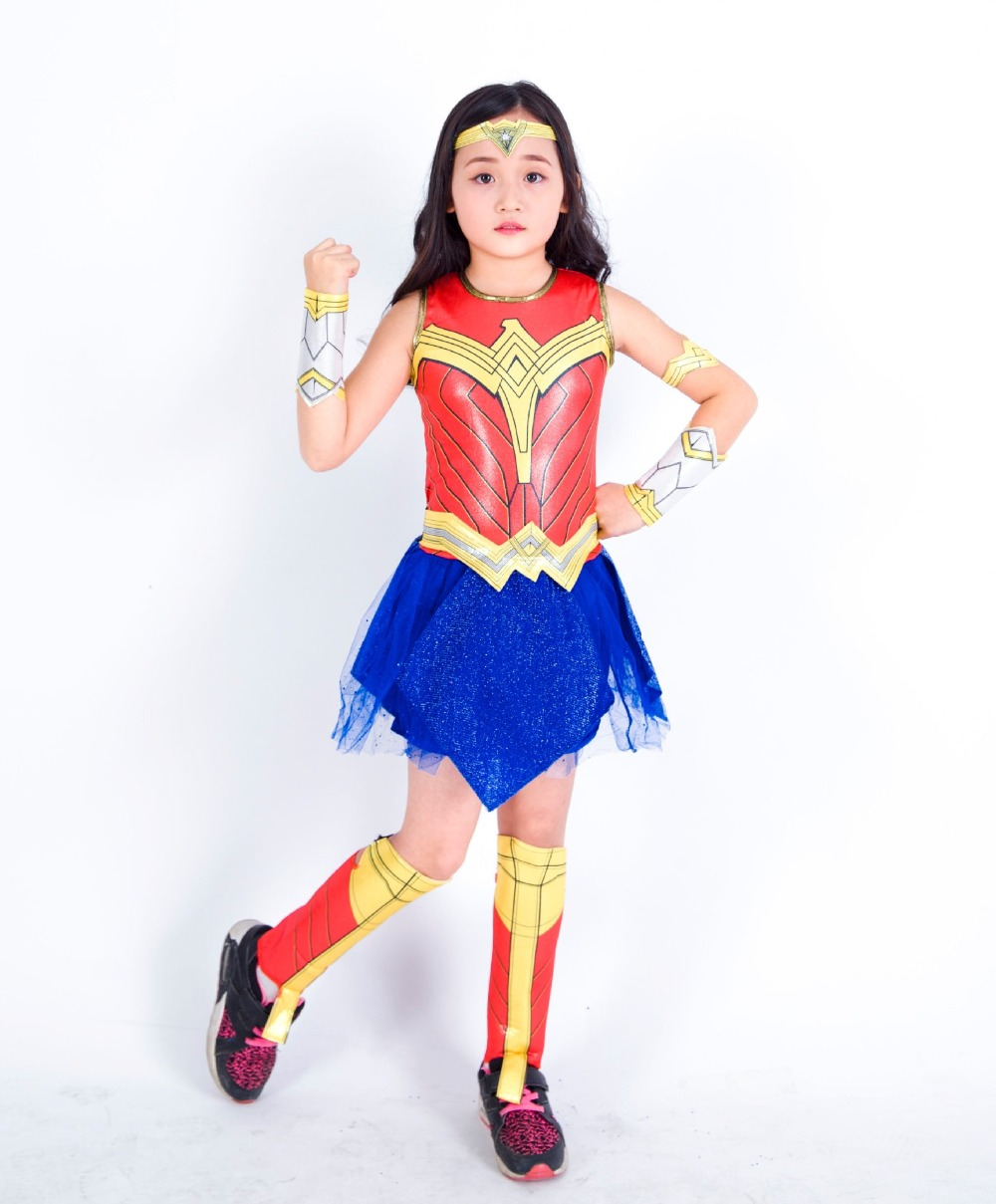 Justice League Wonder Woman Costumes Halloween Anime -6896