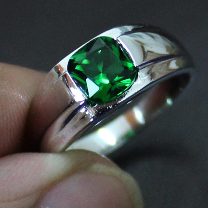 Emerald Rings For Men MMDGEM Mens 925 Sterli...