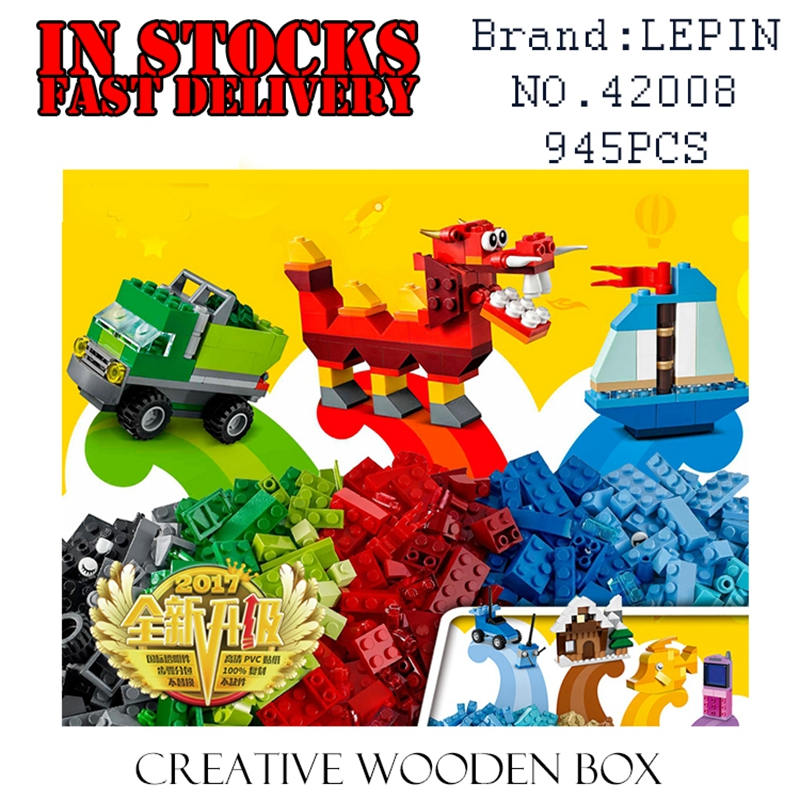 LEPIN Classic 42008 945PCS Creative wooden box Building Blocks Bricks enlighten toys for children Birthday gift brinquedos 10704 lagopus classic bricks blocks game stacked layers hard wood building intellectual wooden toys