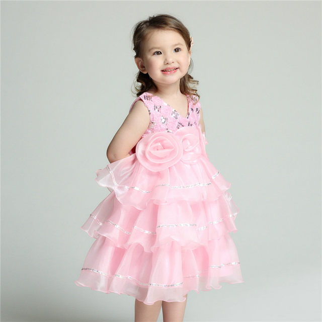 Online shop 2018 formal flower girl dresses children v neck pink 2018 formal flower girl dresses children v neck pink child vestidos kid clothes for girls of 2 3 4 6 8 10 12 years old akf164051 mightylinksfo
